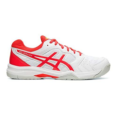 ASICS Gel-Dedicate 6, Scarpe da Tennis Donna, Multicolore (White/Laser Pink 102), 39 EU