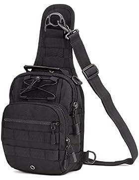 Freedom-vp Damen Herren Military Tactical Umhängetasche Brusttasche Rucksack mit einem Gurt Sling Bags einseitige...