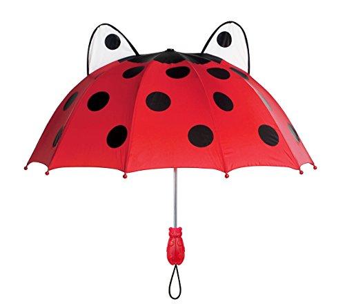 Kidorable Paraguas Mariquita Rojo Única