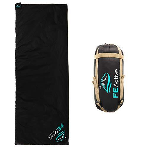 FE Active - Sacco a Pelo Singolo Ultraleggero per Outdoor, Campeggio, Viaggi, Escursionismo | Progettato in California, USA