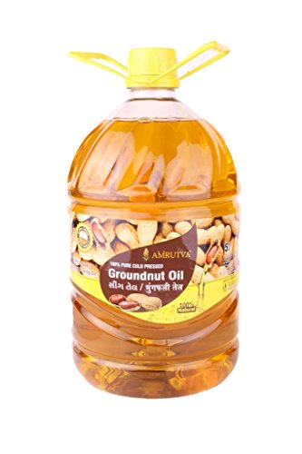 AMRUTVA Extra Virgin Cold Pressed Groundnut Oil 5 LTR