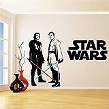 Star Wars Vinyl Wandaufkleber Für Kinderzimmer Dekoration Obi Wan Kenobi & Anakin Skywalker Lichtschwert Wandtattoo Schlafzimmer Dekor