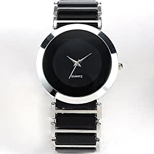 AMPM24 Mens Women Lady Silver Black Sport Black Dial Quartz Wrist Watch WAA199
