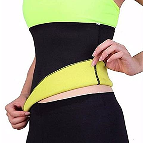 LuckyFine Unisex Abnehmen Taillen Trainings Korsett Neopren Shaper Gürtel Cincher Bodysuit S