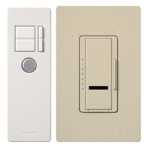 Lutron Lutron MIR-1000T-ST Maestro IR 1000-Watt Single Pole Dimmer with IR Remote Control, Stone by Lutron