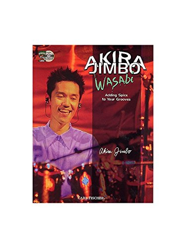 Akira Jimbo: Wasabi - Adding Spice to Your Grooves (Book And CD). Partitions, CD pour Batterie
