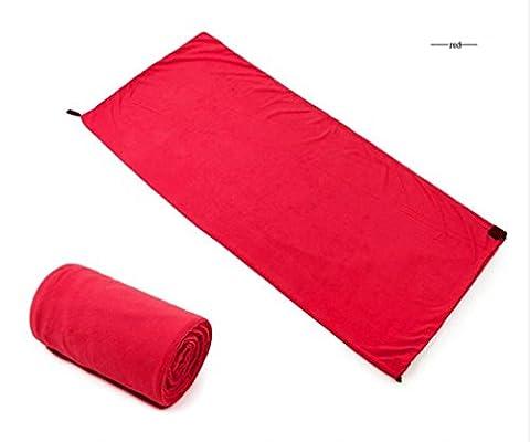 Nola Sang Sac de couchage doublure portative peau-amicale Suède drap de lit voyage 4 saison sacs de couchage à l'intérieur coloré , red