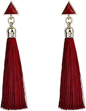 Pendientes Borla Flecos Bohemio, Holacha Pendientes Largos de Cuerda aretes colgantes étnica Boho para Mujeres