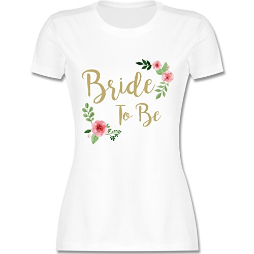 JGA Junggesellinnenabschied - Bride to Be - XXL - Weiß - L191 - Damen Tshirt und Frauen T-Shirt