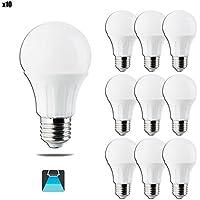Pack de 10 Bombillas LED A5 A60 gran angulo, 11W, casquillo gordo E27, luz blanca 6400K [Clase de eficiencia energética A+]