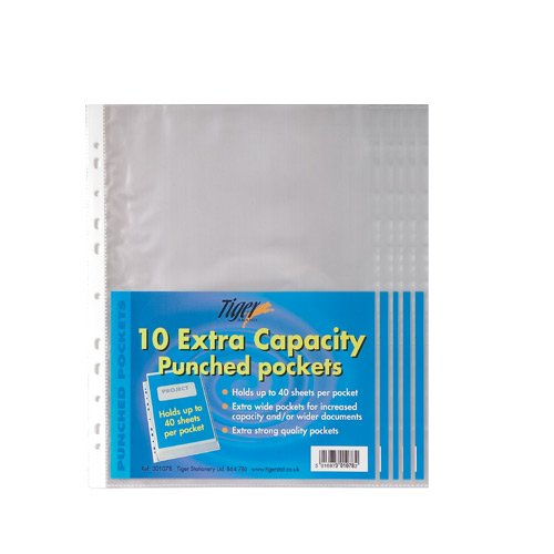 50-pack-of-a4-large-extra-capacity-strong-plastic-poly-punch-pockets-wallet-sleeves-clear-finish