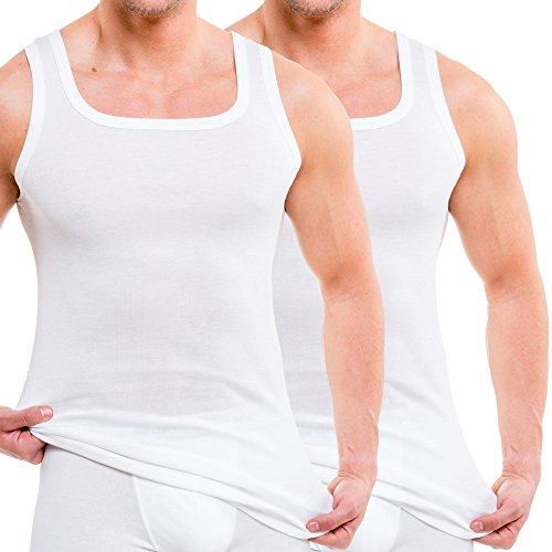 HERMKO 16025 2er Pack Herren Unterhemd aus Baumwolle/Modal