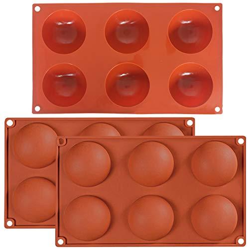 Descripción del producto: Especificaciones: 1, Dimensiones (aprox.): : 29,5 cm x 17,5 cm x 3,3 cm, 6 celdas. Cada celda tiene 7 cm de diámetro y 100 ml por agujero. 2. Peso: 110 g. 3. Color: naranja. 4. Lavar y hervir antes de usar, especialmente par...