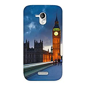 Cute London City Multicolor Back Case Cover for Micromax Canvas HD A116