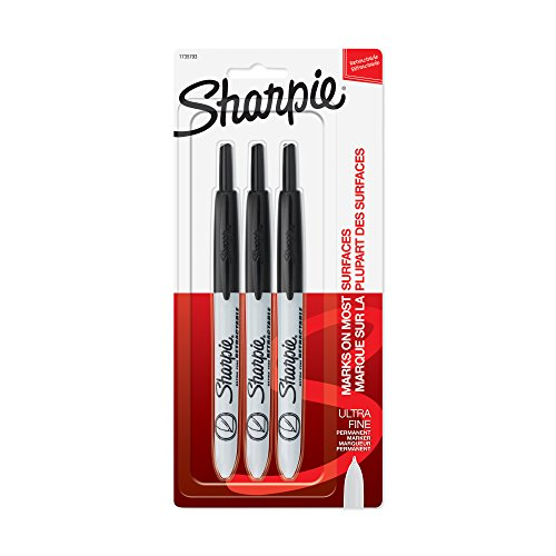 sanford-sharpie-ultra-fine-point-retractable-permanent-marker-3stck-schwarz