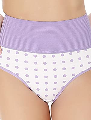 Arise Beauty Blue & White Poly Cotton Printed Panty For Women