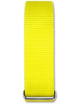 Bruno Banani Damen Herren Uhrenarmband - Textil/Nylon-Armband gelb ohne UBRACCGE
