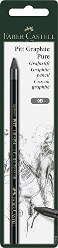 Faber-Castell 117394 Stift Pitt Graphite Pure, Härtegrad 9B