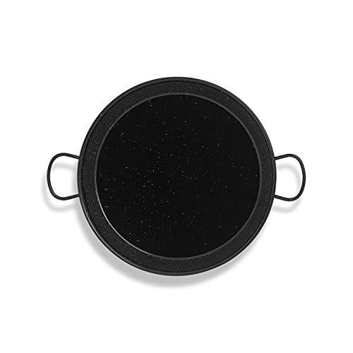 Metaltex 7398510000 Paellera esmaltada 70 cm, Acero, Negro