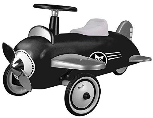 Unbekannt Magni Retro-Rutschauto aus Metall Flugzeug schwarz