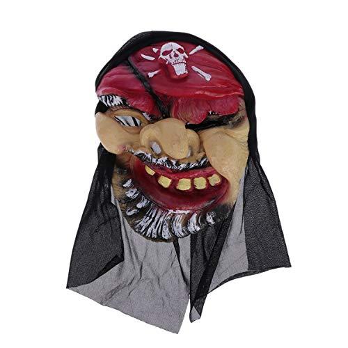 Amosfun Halloween Pirat Mask Zombie Maske Dämon Maske Cosplay Kostüm Zubehör für Halloween Party Dekorationen Requisiten -
