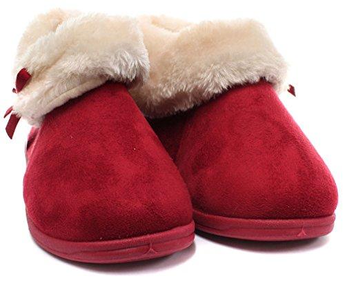 Dunlop, Pantofole donna Rosso (Inverno rosso)