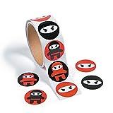 cama24com Ninja Samurai Aufkleber Sticker 100 Stück Mitgebsel Gastgeschenke Partytüten mit Palandi Sticker
