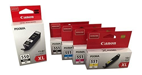 Canon CLI-551 XL/PGI-550 XL Set 5 Patronen Pixma iP7250, MG 5450, MG 6350