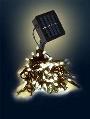 150er Solar LED Lichterkette Warmweiss
