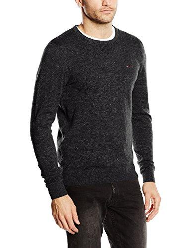 4c83c82927 Tommy Jeans Hilfiger Denim Herren Pullover Schwarz Tommy Black ...