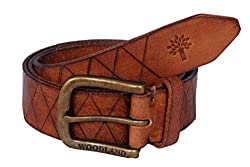 Woodland Men Leather Belt (WoodLand_BT1036041-TAN-38)