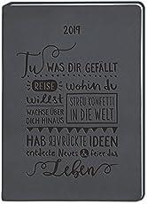 Terminplaner Lederlook A6 Schwarz (Tu was dir gefällt) 2019