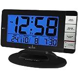 Acctim 14253 Matrix Jumbo LCD Smartlite® Alarm Clock, Black