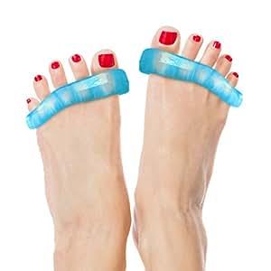 DenadaDance™ Silicone Toe Stretchers - Séparateurs d'orteils- soulagement contre les douleurs de pieds: l'hallux valgus ('oignon'), fasciite plantaire, l'orteil en marteau. Les séparateurs d'un gel spécialisé soulagerent les douleurs dans les pieds ou les orteils et la pointe du pied. Parfait pour le soulagement de la douleur après avoir pratiqué le ballet, la danse, le yoga et après l'exercice. La GUARANTIE À VIE pour soulager vos pieds douloureux.