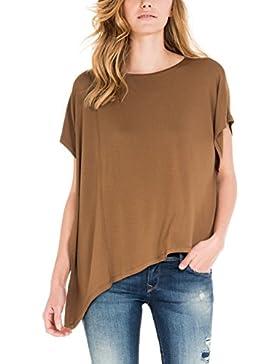 SALSA Camiseta bajo Asimétrico