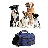 Victoire Hund Geschirr Tasche Satteltasche Rucksack Carrier Haustiere für Außen Reise Training Camping Spaziergang Blau L