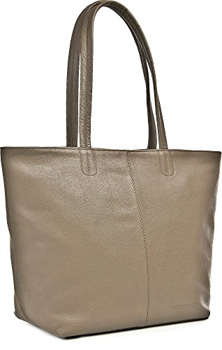 PHIL+SOPHIE, Borsa tote donna taupe