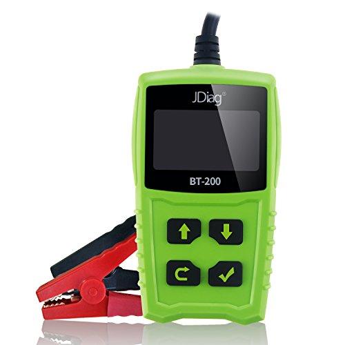 KDator Autobatterie Tester Tester 12 V 100-1700 CCA 100AH BT200 Automotive Belastung Batterie Tester Digital Analyzer Bad Zelle Test Tool Auto/Boot/Motorrad und Mehr (Grün)