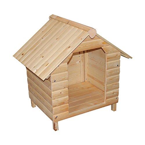Hundehütte Hundehaus Hundebox Hunde Haus Hütte Box Wetterfest 64x74x76 cm