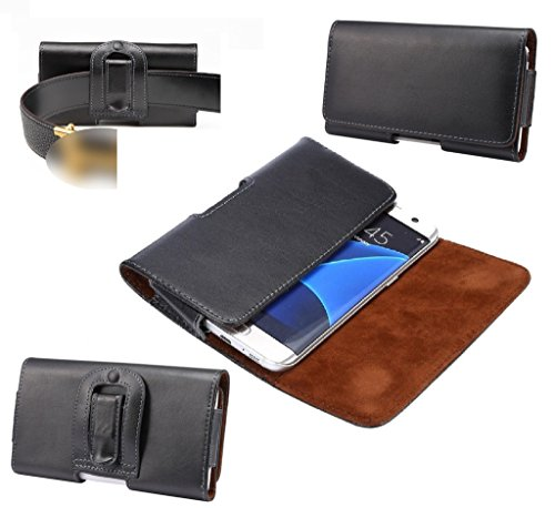 dfv-mobile-case-belt-clip-genuine-leather-horizontal-premium-for-general-mobile-discovery-air-black