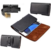 "DFV mobile - Case Belt Clip Genuine Leather Horizontal Premium for => VPHONE I6 4.7 "" > Black"