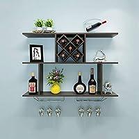 LUYION- El Diseño Creativo Puede Cargar El Estante Colgado Pared-Montado 40Kg del Vino De La Casa (100X20x67cm),Brown