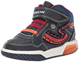 Geox Jungen J INEK Boy E Hohe Sneaker, Blau (Navy/Red C0735), 32 EU