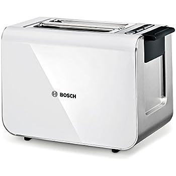 Bosch TAT8611 Styline Tostapane, Colore Bianco/Antracite, 860W