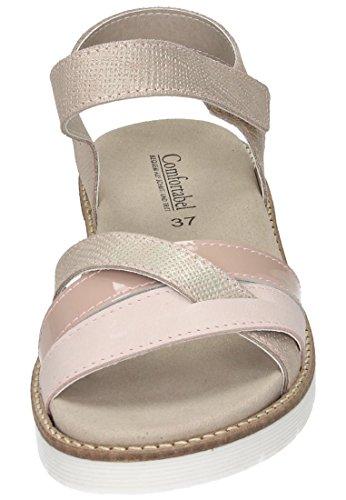 Comfortabel Damen Sandale Rosa