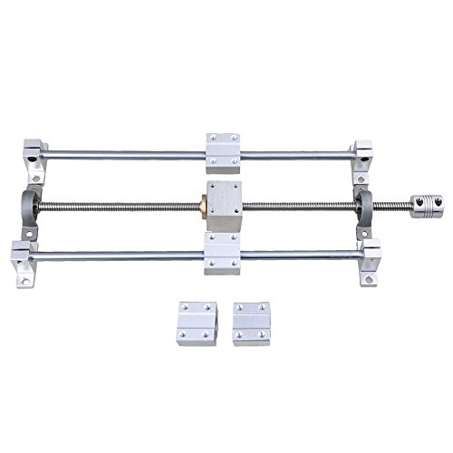Horizontale lineare 200mm optische Achse & T8 Leitspindel Dual Rail Support CNC-Lagerblock & Stepper Coupler Support Set