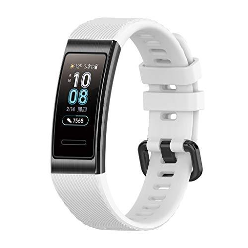 Für Huawei 3/3Pro Smart Watch Armband Band MuSheng Sports Silikon Ersatzarmband WatchBand Damen Herren Sports Bracelet Strap Wristband für Huawei 3/3Pro Smart Watch (Weiß)