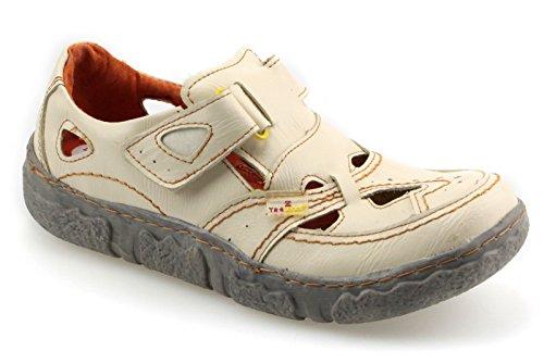 Tma Couro Calçados Femininos De Verão Baixos Sapatos Sandálias 7008 Branco