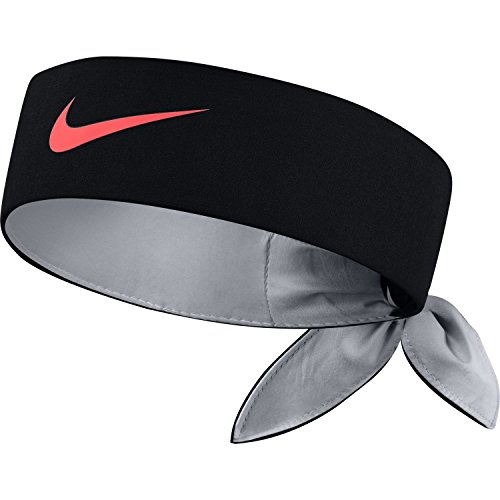 Nike Damen Court Stirnband, Black/Wolf Grey/Hot Punch, One Size
