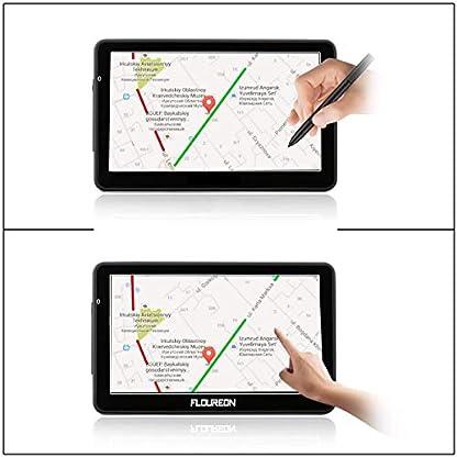 FLOUREON-Navigationsgert-LCD-Touchscreen-GPS-Navigation-NAV-Navigator-freie-EU-UK-Maps-Auto-Car-Taxi-Schwarz
